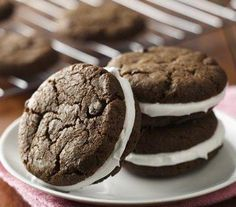 Gluten Free Double Chocolate Sandwich Cookies