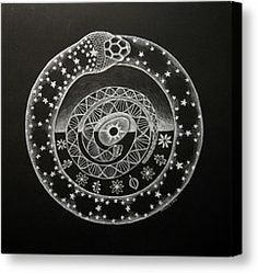 Cosmic Serpent Global Symbol Interconnected Nature Life Systems Earth Cosmos Space Snake Universe Canvas Prints - The Cosmic Serpent Canvas ...