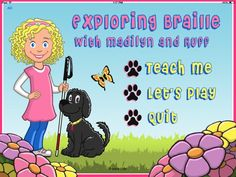 Enter to win a copy of the Exploring Braille with Madilyn and Ruff iPad app! This app makes learning the braille alphabet easy and fun. Contest ends December Visually Impaired Activities, Braille Reader, Braille Alphabet, Best Ipad, Educational Technology, Assistive Technology, Literacy, Exploring, Visual Impairment