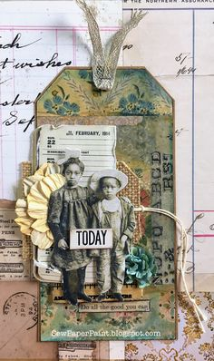 A Vintage Journey: Tag Friday and an invite to link yours up Vintage Tags, Vintage Paper, Tim Holtz, Timmy Time, Shabby Chic Cards, Shabby Chic Journal, Mixed Media Cards, Art Journal Techniques, Handmade Tags