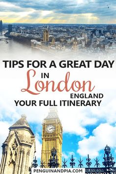 There are lots of great things to do in London. So many that it can be difficult to decide which attractions and restaurants to visit – especially if you're short on time. Here is our complete one-day London itinerary to help you plan your city trip! One Day In London, Things To Do In London, Travel Guides, Travel Tips, Travel Destinations, Travelling Tips, Holiday Destinations, London Tours, London Travel