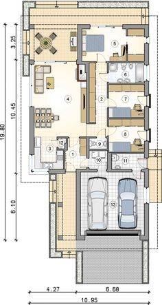 House Architecture Styles, Carport Garage, Architectural House Plans, Dream House Plans, Design Case, Smart Home, Planer, Decorating Your Home, Home Goods