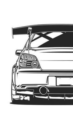 Tuner Cars, Jdm Cars, Wrx Sti, Subaru Impreza, Cool Car Drawings, Jdm Wallpaper, Subaru Cars, Car Illustration, Japan Cars