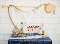 nautical and oh so delicious Photography by White Loft Studio / whiteloftstudio.com/, Cocktail by St-Germail / stgermain.fr/