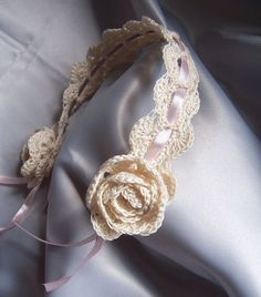 Crochet Hair Garland : Crochet Hair Band on Pinterest Crochet Headbands, Band and Headband ...