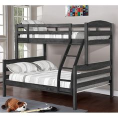 online shopping for Ralph Twin Over Full Bunk Bed Viv + Rae from top store. See new offer for Ralph Twin Over Full Bunk Bed Viv + Rae Twin Full Bunk Bed, Bunk Bed Sets, Trundle Bed With Storage, Bunk Beds With Drawers, Wood Bunk Beds, Modern Bunk Beds, Bunk Beds With Stairs, Kids Bunk Beds, Twin Twin