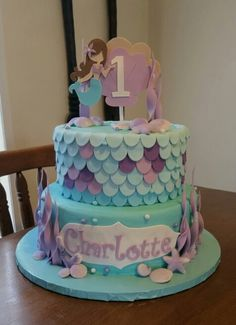 Mermaid cake This was actually my daughters birthday cake that was done February 2015. Jennifer cake was the best cake I ever had in my life, and my family agrees.