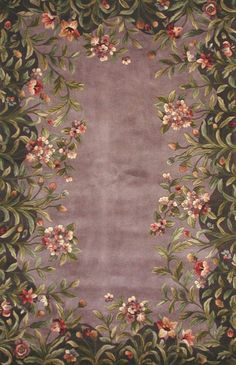 Features: -Vibrant and intricate gold tulip garden design. -Initial Care: Vacuum both the top and bottom sides of your rug. Use a rug pad specific to the type of surface on which you will be placing Thick Wool Yarn, Tulips Garden, Green Garden, Rug Studio, Purple Rooms, Lavender Green, Floral Area Rugs, Magic Carpet, Indoor Rugs