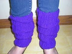 Free Knitting Pattern - Legwarmers: Purplelicious Legwarmers