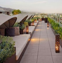 Roof top panoramic view sitting area