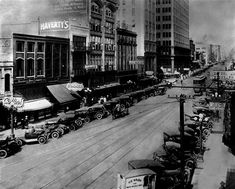 Downtown circa 1910's (Birmingham, AL) Looks like 1st Ave N and 20th.  Also, note the establishment on the far left: Collin's. Wonder if it's a bar?