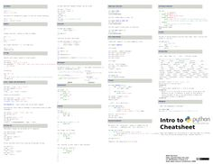 Intro to Python Cheat Sheet