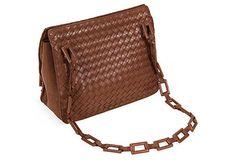 Bottega Veneta Brown Leather Purse on OneKingsLane.com