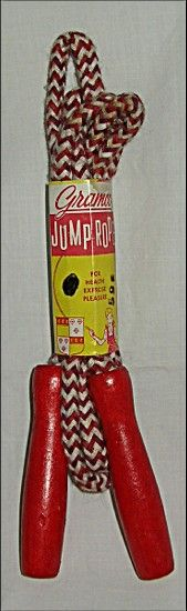 Vintage Braided Jump Rope ~ A new jump rope, and a new kite, every March when I was a child.