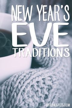 Creating family traditions is very important to many of us. If you want to create some of your own New Year's Eve traditions, here are some great ideas!