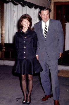 Jackie Kennedy with Franklin Roosevelt Jnr in 1969