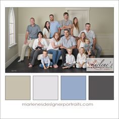 Taupe, Cream, Blue and Grey Colour Palette