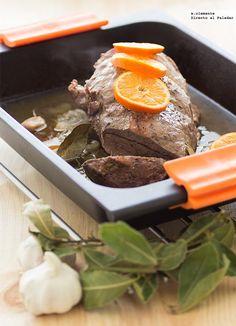 Asado de ternera con brandy y mandarina. Receta Meat Recipes, French Toast, Beef, Healthy, Breakfast, Food, Alcohol, Gastronomia, World