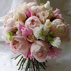 Sweet Peas are tied with our highly scented 'peony' roses (often mistaken for real peonies!)