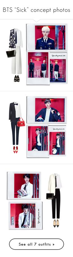 """""""BTS """"Sick"""" concept photos"""" by the92liner on Polyvore featuring bts, BangtanBoys, P.A.R.O.S.H., Uniqlo, Kelly Love, Yves Saint Laurent, Suga, bangtansonyeondan, minyoongi and Ted Baker"""