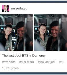 I want to ship them but then there's Kylo and Rey! At least Finn is out of the picture