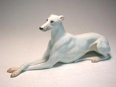 Austrian Augarten Greyhound/Whippet porcelain figurine