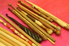 I love wooden crochet hooks...everything about them! :)