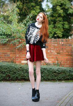 Saia de veludo #saia #veludo #DDQ #moda #tendência #skirt #velvet #trend #fashion #fashiongirl #styletumblr