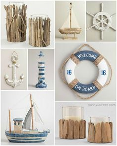 Driftwood and nautical decor ideas