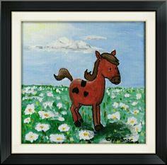 Voor Lotte - acryl op doek (ca. 18 x 18 cm2)