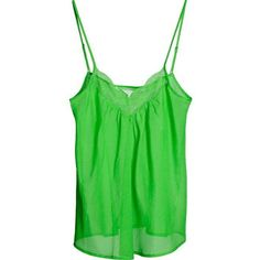 CUSTOMMADE Neel slip top green ❤ liked on Polyvore