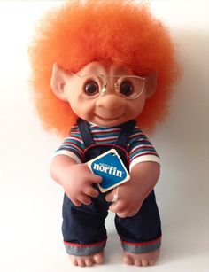 Rare Norfin Troll Doll, Dam Thing Large Troll, 1970s Troll Henry, Highly…