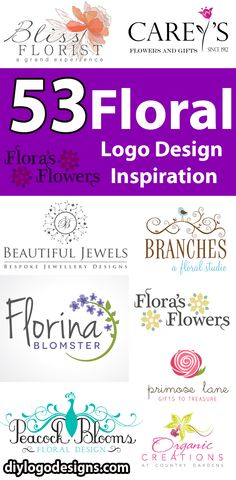 53 Colorful Floral Logo Design Inspiration. see full collection.