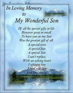 In Loving Memory To My Wonderful Son Wesley