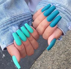 There are many kinds of blue nail art designs, which are also one of the most popular nail colors. In previous articles, we have introduced the art design of Dark Blue Nails, Navy Blue Nails and Blue Sparkle Nails, which are welcomed by women. Coffin Nails Matte, Blue Acrylic Nails, Acrylic Nail Designs, Gel Nails, Acrylic Colors, Glitter Nails, Bright Nail Designs, Nail Polish, Light Blue Nails