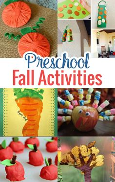 Get ideas for tons of hands-on Preschool Fall Activities to get into the season…