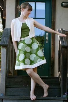 Hemless A-Line Skirt