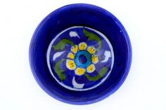 This pretty tray, which is a part of our blue pottery collection from Jaipur, is a perfect buy for you home decor. With its multicolored floral motifs, intricate design and a glossy finish. Blue Pottery, Floral Motif, Jaipur, Handicraft, Tray, Fancy, India, Simple, Pretty
