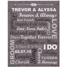 Personalized Forever and Always Canvas, Size: 16 x 20, Beige