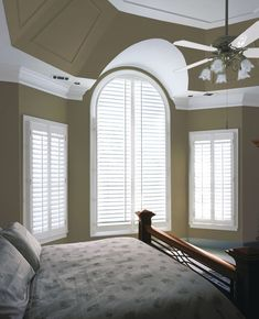 Faux Wood Plantation #Shutters by Shades Shutters Blinds : invest in your windows! #discoverSSB #VerticalBlindsUpcycle #VerticalBlindsCrownMolding