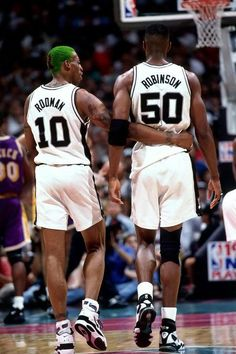 Dennis Rodman and David Robinson. The Worm and The Admiral