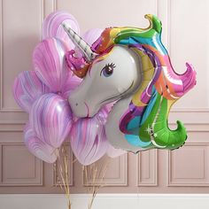 🦄 oh so so pretty 💜 * * * #unicorn #rainbow #marble #love #balloons #makingballoonsawesome