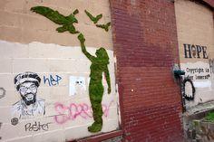 Edina Tokodi's Moss graffiti