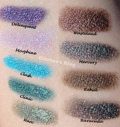 Urban Decay 24/7 Eyeshadow Pencil Swatches. Morphine is totally my drug of choice...