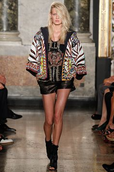Emilio Pucci Spring/Summer 2014 Ready-to-Wear Collection via Designer Peter Dundas; modeled by Natalia Siodmiak