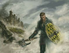 Orkwood Reaver by Aaron Riley.  House Orkwood of Orkmont is a noble house from the Iron Islands, with its seat on the island of Orkmont. Aeron Greyjoy spots the banners of House Orkwood among those gathered for the kingsmoot. Lord Alyn Orkwood, called Orkwood of Orkmont, supports Euron Greyjoy. Some Orkwoods though gather to wish Victarion Greyjoy well on Old Wyk.
