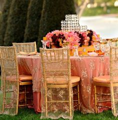 Decoration de mariage or table et decor
