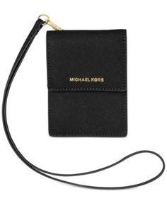 MICHAEL Michael Kors Jet Set Travel Lanyard Card Case - Handbags & Accessories - Macy's