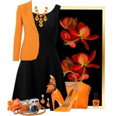 """""""black and orange"""" by countrycousin on Polyvore"""