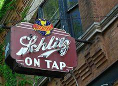 Vintage beer sign....